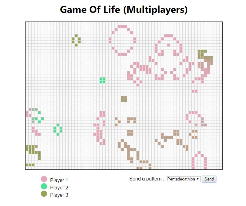 le jeu  u0026quot jeu de la vie u0026quot  avec la fonctionnalit u00e9 multijoueur